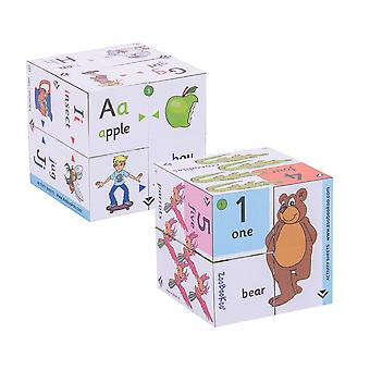 ZooBooKoo Pre School Cubebook Pack Alphabet and Numbers Educational Learn
