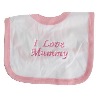 Textiles Universales BebéS Niños /Niñas Me encanta mamá Bib