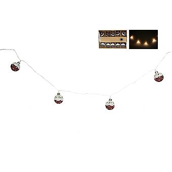 Gisela Graham LED Christmas Pudding Garland