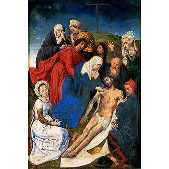 La Lamentation du Christ, Hugo van der Goes, 60x40cm