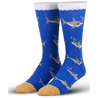 OddSox Mens Crew sokken breien ~ haaien