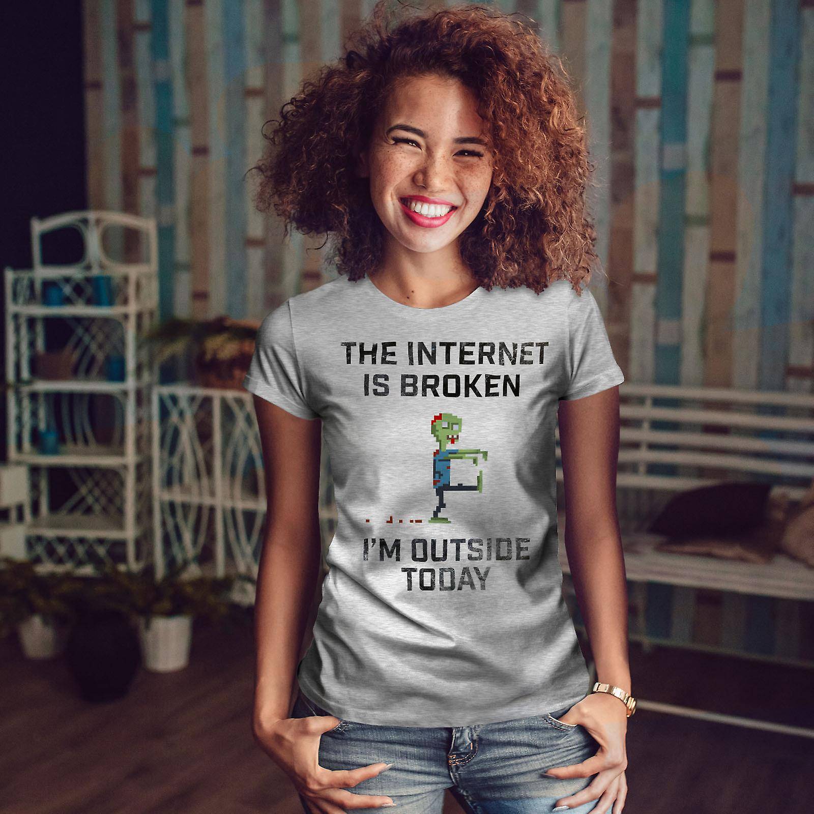Jeu Zombie Geek GreyT-chemise femme | Wellcoda