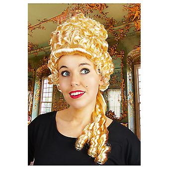 Perruques médiéval haute perruque blonde