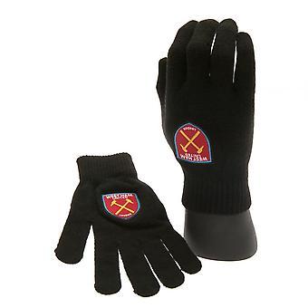 West Ham United FC Oficiálna Junior pletené rukavice