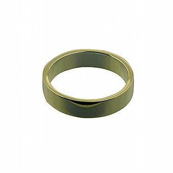 9ct Gold 5mm plain flat Wedding Ring Size Z
