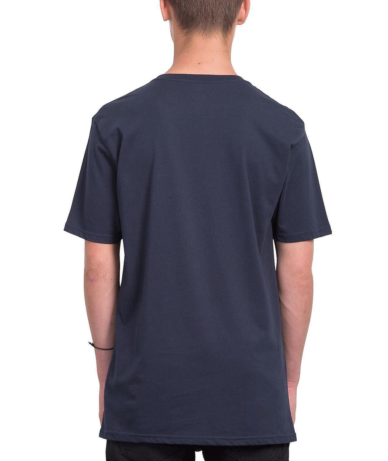 Volcom Men's T-Shirt ~ Crisp Stone navy