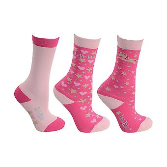 Little Rider Childrens/Girls Little Show Pony Socks (Pack Of 3)