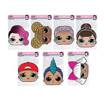 LOL Surprise 2D Card Party Fancy Dress Masks Variety Pack of 7