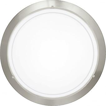 Eglo Planet 290mm Matt Nickel & Glass Ceiling Or Wall Disk Light