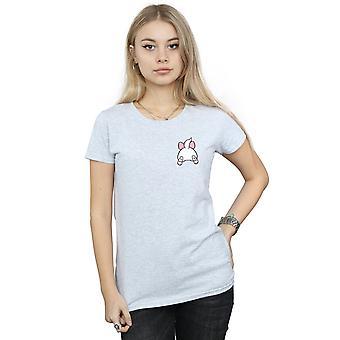 Disney Women's Aristocats Marie Backside Breast Print T-Shirt