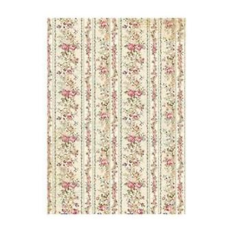 Stamperia papel de arroz A4 diminutas rosas Wallpaper (DFSA4205)