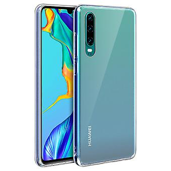 Tough rear clear case + shock absorbing silicone bumper for Huawei P30
