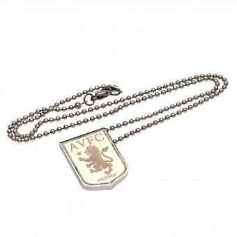Aston Villa Stainless Steel Pendant & Chain LG