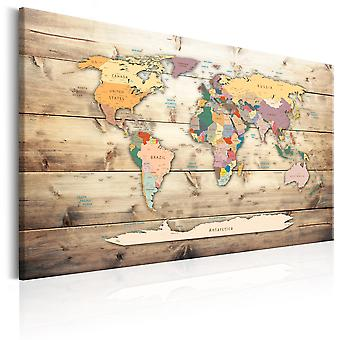 Quadro - World Map: Colourful Continents