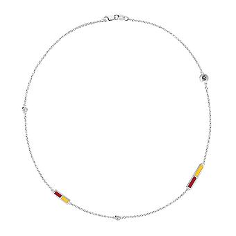University of Southern California Diamond Chain Necklace In Sterling Silver Design by BIXLER