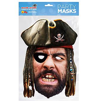 Pirate Historical Single 2D Card Party Fancy Dress Mask