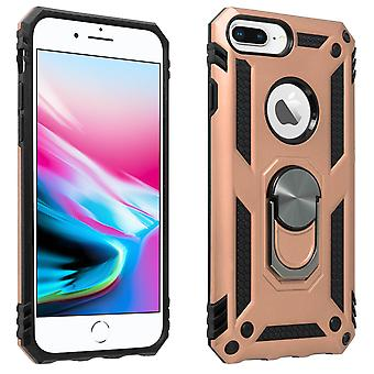 iPhone 6MD / 6SMD / 7 ' / 8 ' Case Bi Material Rigid Soft Magnetic Ring Stand Rose