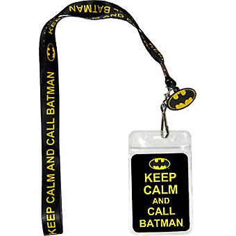 Lanyard - DC Comic - Batman Keep Calm New Gifts Toys lan-dc-0002