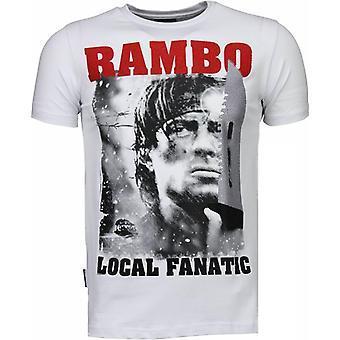 Rambo-Rhinestone T-shirt-White