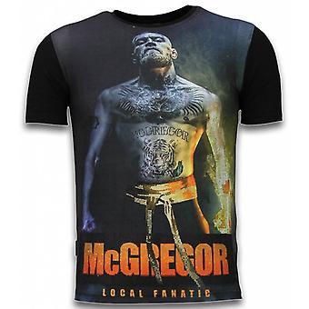 McGregor Fire arm-Digital rhinestone T-shirt-svart