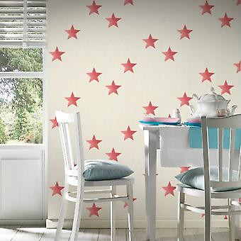 A.S. Creation AS Creation Star Pattern Wallpaper Canvas Faux Effect Textured 351835