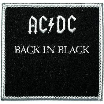 Patch - ACDC - Back in Black New Iron-On p-0533