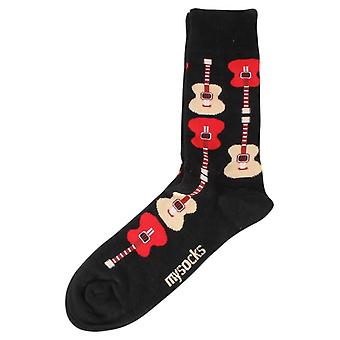 MySocks Guitar Socks - Black/Red/Beige