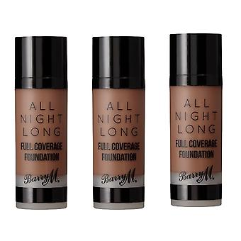 Barry M 3 X Barry M All Night Long Full Coverage Foundation - Pecan
