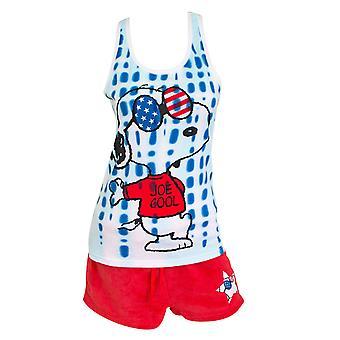 Snoopy Amerikan Naisten toppi ja shortsit pyjama setti