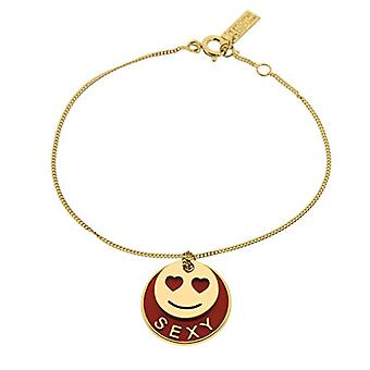 The Gold-plated and lacquered M me Bijou with 15 Charm - 16 cm