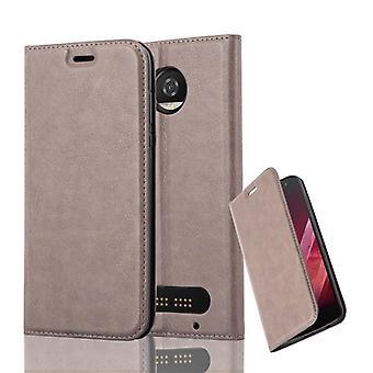 Caso cadorabo para Motorola MOTO Z2 PLAY Case capa-telefone caso com fechamento magnético, stand função e compartimento de caixa de cartão – caso capa caso caso caso caso livro de dobramento estilo