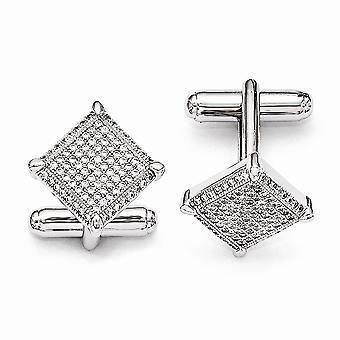 925 Sterling Silber und CZ Zirkonia simuliert Diamant brillante Ohrringe Manschettenknöpfe Schmuck Geschenke für Männer