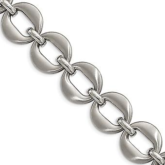 Roestvrij staal fancy kreeft sluiting gepolijst en geborsteld met .7inch ext. armband 7,5 inch sieraden geschenken voor vrouwen