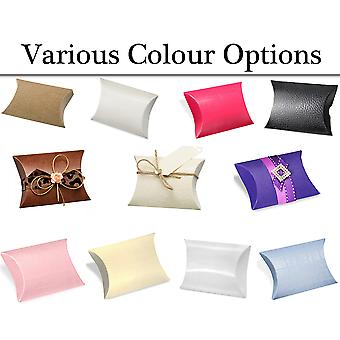 10 Pillow Shape Card Gift Boxes for Wedding Party Favours