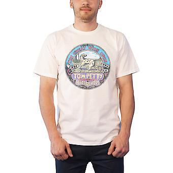 Tom Petty T Shirt Touring The Great Wide Open USA new Official Mens White