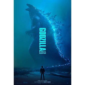 Godzilla: koning van de monsters originele film poster-dubbelzijdig voorschot stijl