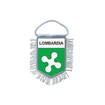 Flagge Mini Flagge Land Auto Dekoration Souvenir Blason Italien Lombardei