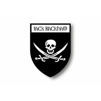 Naklejka Naklejka Motocykl Samochód Blason City Pirate Flag Jack Rackham