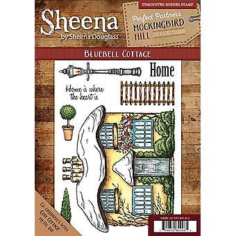 Sheena Douglass Perfect Partners Mockingbird Hill A6 Rubber Stamp Set - Bluebell Cottage