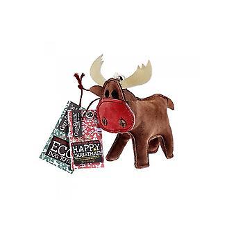 Green & Wild Rudy The Reindeer -  Eco Dog Toy Jute & Suede Green & Wild