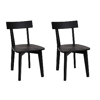 Penguin Home -  2 x Classic Dining Chairs in Rubberwood