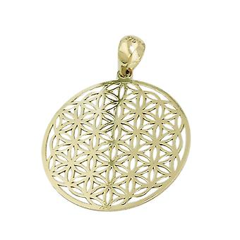 Pendant 20mm flower of life filigree 9Kt GOLD