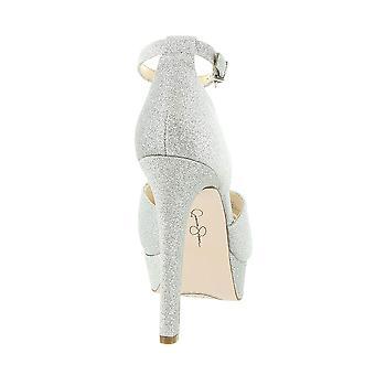 Jessica Simpson Womens BRIYA Fabric Peep Toe Ankle Strap D-orsay Pumps