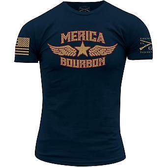 T-shirt Grunt Style Merica Bourbon - Marine