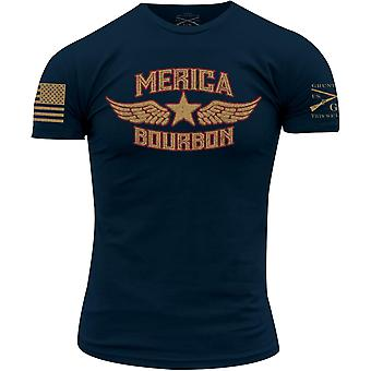 GRUNT Style Merica Bourbon T-shirt-Navy