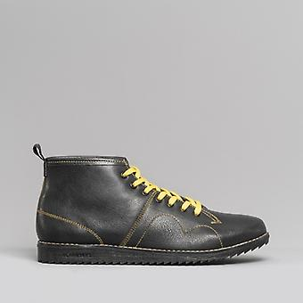 Blakeseys 1960 Unisex Leather Monkey Boots Black/yellow