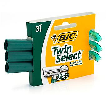 Bic twin select shavers for sensitive skin, 3 ea