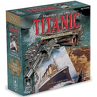 Meurtre sur le Titanic Mystery 1000 Piece Jigsaw Puzzle avec livre (pl)