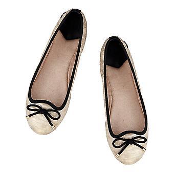 Butterfly Twists Francesca - Folding Ballerina Pumps - Gold Croc, Pewter Croc