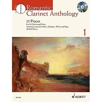 Romantic Clarinet Anthology  CD  25 Pieces for Clarinet and Piano by Hal Leonard Publishing Corporation & Edited by Rudolf Mauz